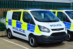 New Ford Transit Custom (S11 AUN) Tags: durham constabulary ford transit custom cell cage station van police panda car incident response vehicle irv 999 emergencyvehicle