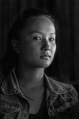 Nepali mountaingirl (still very busy, trying to catch up) Tags: nepal nepali nepaligirl bw blackandwhite monochrome portrait light travel