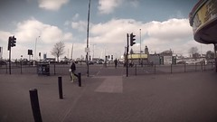 Southend Walk 1 (GoPro Uno) Tags: southend gopro essex slow motion 100framespersecond 100fps flux finalcutpro colorgrading colourgrading kursaal seafront beach england britain uk goprosession chestmount hero spring sun candid walk varispeed multispeed slowmotion highspeed timelapse vignette filmgrain lynch