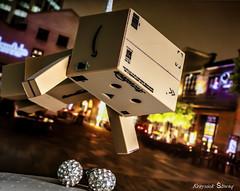 Catched (Me an Atheist (Krzysiek Śliwaq)) Tags: art dan canon fun toy toys 50mm robot miniature designer figure robo danb danbo danbi 60d danboard