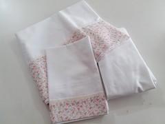 JOGO DE LENOL (Cecys Baby) Tags: floral de rosa menina jogo lenol lencol
