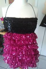 Redesigned Dress Front (Berkana Haus) Tags: studio design designer sewing haus costuming sequins samples fit garments redesign reworked upcycled bahati berkana patterndrafting hlaleleni