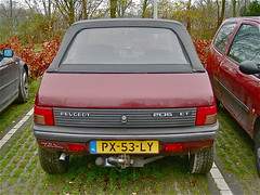 1986 PEUGEOT 205 CT Cabriolet (ClassicsOnTheStreet) Tags: ct convertible 80s 1986 1980s cabrio peugeot 205 cabriolet pininfarina px53ly