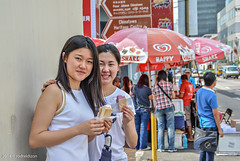 Share - Happy - Chinese Tourists at Chinatown Singapore (rumblytummy27) Tags: china street ladies people color ice happy photography town nikon singapore chinese cream tourists walls tamron 18200 share ocs d5200