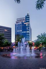 Boise Downtown - The Grove Fountain (fandarwin) Tags: plaza fountain fan downtown grove darwin olympus panasonic idaho boise zuiko 918 gf1 fandarwin