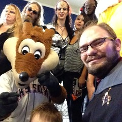 Me and Sox and some Klingons at the #SkySox #StarTrek night. This night was awesome! / on Instagram http://instagram.com/p/q8gquFMmgm/