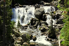 Precipitous Falls, Ridge (offtrailjeff) Tags: river little falls ridge trail madison yellowstone ridgeline firehole precipitous plateua