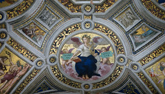 Raphael, allegorical figure of poetry, ceiling