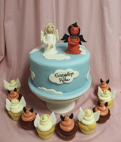 Angel & Devil Cupcakes
