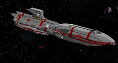 Battlecruiser - Delaware (Rennesis77) Tags: lego space scifi sciencefiction spaceship microspace battlecruiser digitaldesigner