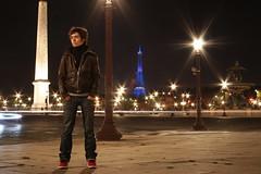 Dj Aurélie - Canon eos 550D (berengere prevost) Tags: light paris night canon eos tour eiffel toureiffel concorde trocadero nuit citylight parisbynight 550d canoneos550d
