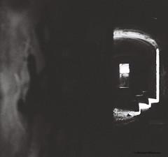 L (willumsenart) Tags: light film canon fence dark graffiti stockholm tags negative bunker canonae1 analogt