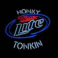 Honky Tonkin (Thomas Hawk) Tags: usa beer lite neon unitedstates nashville tennessee unitedstatesofamerica broadway millerlite