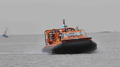 New Brighton RNLI Hovercraft Call out (sab89) Tags: new rescue river out brighton call royal estuary lifeboat national sprint mersey hurley hovercraft rnli h005