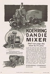 Koehring 1922 (Runabout63) Tags: concrete construction cement mixer machinery advert koehring