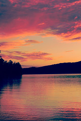 The Lake (AlyKPhoto) Tags: pink blue light sunset summer sky orange sun lake nature water beautiful yellow clouds outside outdoors fire intense warm sunny arkansas
