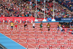 Mens 110m Hurdles (Fraser Murdoch) Tags: park england andy sport wales race canon eos scotland clyde team athletics jump long greg florida britain crash thomas xx five glasgow live great cymru 110 scottish wave australia running games joe run andrew line m mascot mount bbc jamaica disaster empire finish british bermuda athletes 20 fraser bahamas turner roar 800 hurdles commonwealth murdoch hampden 20th rutherford 2014 800m cwg 110m weegie 650d osagie