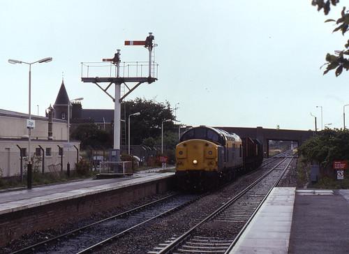 scotland br elgin britishrail ee englishelectric class37 railfreight scottishregion