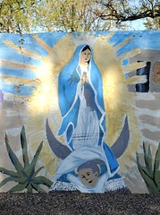 Virgin of Guadalupe Arizona (Ilhuicamina) Tags: arizona art oracle paintings murals walls guadalupe