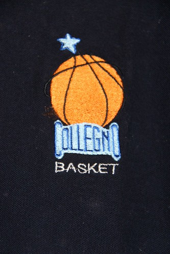 Dettaglio logo polo blu Collegno Basket logo moderno