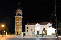 The churh in Argassi by night (In Explore) (Steenjep) Tags: holiday church night nat greece ferie zakynthos kirke argassi grækenland