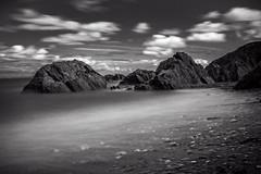Lee Bay Devon. ND filter and long exposure (hxsaint08) Tags: longexposure england blackandwhite beach monochrome bay ndfilter