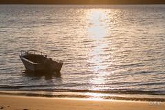 Beach To (wishvesh) Tags: sunset boat palmbeach