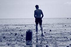 tank (torturett) Tags: sea england sun man beach photography coast tank oil whitstable torturett