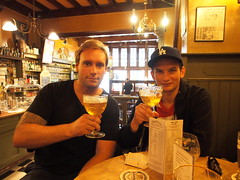 Having a ccold one in the best beerhouse in Amsterdam!