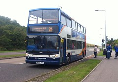 18390 - MX55 ZNH (Cammies Transport Photography) Tags: bus drive coach fife via alexander dennis sandpiper stagecoach 2a dunfermline trident rosyth in 18390 ferrytoll pampr mx55znh
