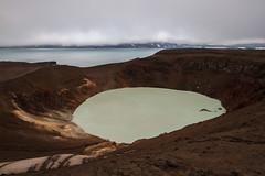 Il Cratere dell'Inferno (Roveclimb) Tags: travel lake holiday water lago volcano iceland journey crater thermal viaggio vacanza cratere islanda vulcanic askja viti fjall termale oskjuvatn dreki f910