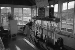 Dunkeld signal box, 1993 (Taysider64) Tags: interior dunkeld railways birnam signalbox levers blockinstruments
