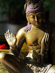 home (gerben more) Tags: sunlight statue bronze image buddhist religion buddhism boddhisattva