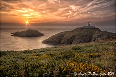 Strumble Head Sunset (angeladj1) Tags: sunset lighthouse wales strumblehead pembrokeshire