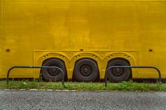 yellow. (angsthase.) Tags: green yellow truck germany deutschland weeds nrw grün ruhrgebiet dortmund 2014 ruhrpott mft micro43 lumixg20f17 epl5 olympuspenepl5