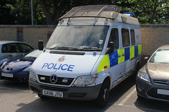 Surrey Police Mercedes Sprinter Public Order Van (PFB-999) Tags: public station mercedes support order pov police surrey vehicle leds van beacons grilles psu unit sprinter strobes lightbars rotators stainesuponthames gx06jtu