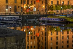 Liverpool mirrored (alundisleyimages@gmail.com) Tags: longexposure night liverpool docks reflections boats nightlights transport albertdock merseyside leedsliverpoolcanal salthousedock canalbarges flickrelite sigma70200f28apoexdgos nikond7100