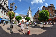 St. Severus Church (jpellgen) Tags: travel summer architecture germany nikon europe european august unesco fisheye nikkor rhine 2014 105mm stseverus d5100 saintseverus