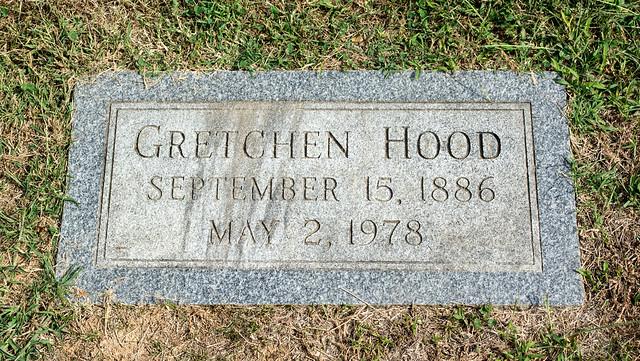 Gretchen Hood grave - Glenwood Cemetery - 2014-09-19