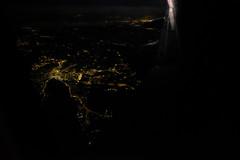 rseau (0gust1) Tags: night plane lights tunisia tunisie