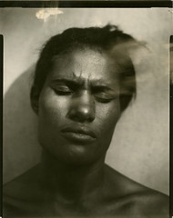 Slow Photography (Giovanni Savino Photography) Tags: portrait portraits interesting dominican dominicanrepublic exhibition portraiture intriguing intimate introspection 4x5camera largeformatphotography coffeeprocessing slowphotography caffenolc magneticart directpositivepaper giovannisavino theforwardthinkingmuseum portraitswithclosedeyes