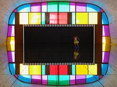 Daniel Buren - Dfini, Fini, Infini (2014) (fb81) Tags: france color reflection art geometric modern mirror marseille cit symmetry installation provence lecorbusier mamo insitu danielburen radieuse unitdhabitation