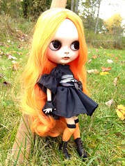 New doll: Wilhelmina Wormwort.  She's musing on some spells to cast.