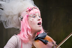 Lila'Angelique, (Tribal Baroque), Edinburgh Fringe Festival 2014, Royal Mile. (mellowmark) Tags: festival edinburgh august fringe royalmile 2014 a57 edfringe lilaangelique tribalbaroque