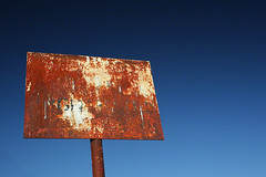 Abandoned Weathered Sign (2c..) Tags: blue ireland sky dublin abandoned sign graphic © rusty crusty 2c