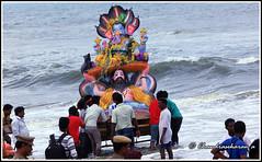 4512 - immersion of Vinayaka 2014 (chandrasekaran a 38 lakhs views Thanks to all) Tags: travel sea india water festivals culture traditions custom chennai hinduism vinayaka rituals immersion bayofbengal lordganesa canon60d customaryrites