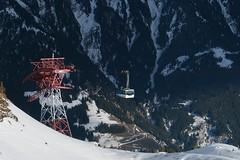 Cable car (No_Mosquito) Tags: mountains cable car transportation ski resort snow scenery landscape alps europe austria gastein winter schlossalm canon powershot g7x mark ii salzburg tauern steep ngc schlossalmbahn hofgastein