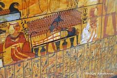Prepearing for afterlife (konde) Tags: tt1 deirelmedina sennedjem khonsu ancient 19thdynasty newkingdom coffin sarcophagus deities anubis goddess isis nephtys mummy hieroglyphs