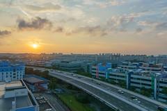 DSC09491-HDR_LR (teckhengwang) Tags: landscape sunrise singapore hdb