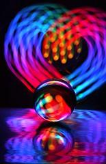IMG_5668b (AndyMc87) Tags: lightstreams lighttrails lightpainting colourful colour glas kugel sphere globe langzeitbelichtung longtimeexposure mirror effect canon eos 6d abstrakt heart love herz